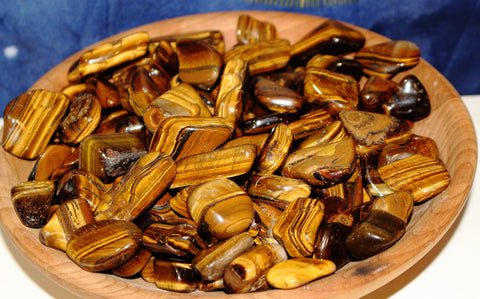 Bulk Tumbled Tiger Eye, Bulk Tigers Eye - 1/4 or 1/2 lb
