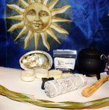Home Smudge Set, Blessed Intent Cleansing Kit, White Sage Smudge, Palo Santo, Sweetgrass