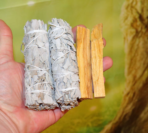Palo Santo and California White Sage 2 to 5 of each, Bulk Palo Santo, Bulk White Sage