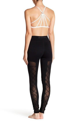 cute yoga leggings with mesh high waist