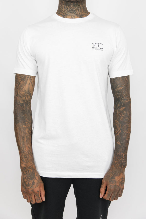 Men's Official Club Logo Cotton Crew Neck T-shirt White
