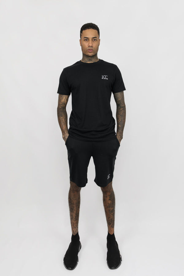 Men's Official Club Logo Cotton Crew Neck T-shirt And Shorts Set