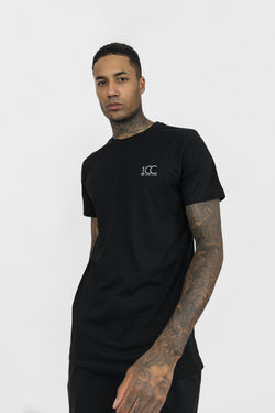 Men's Official Club Logo Cotton Crew Neck T-shirt Black