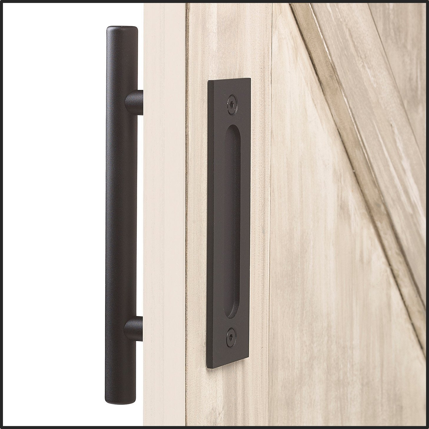 Sliding barn door handle pull with latch | MJC & Company