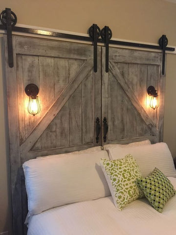 DIY Barn Door Headboard - Unique Barn Door Ideas | MJC & Company