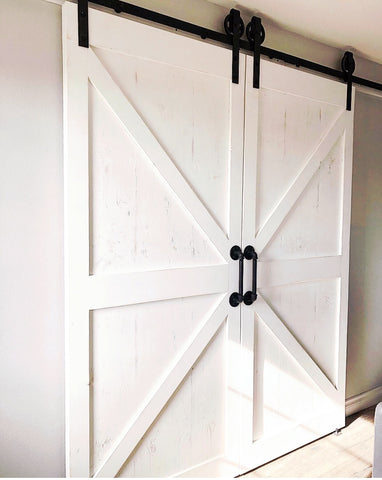 Vintage Double Barn Door Hardware Kit | MJC & COMPANY