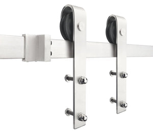 Classic | Single Barn Door Hardware | Stainless Steel - MJC & Company