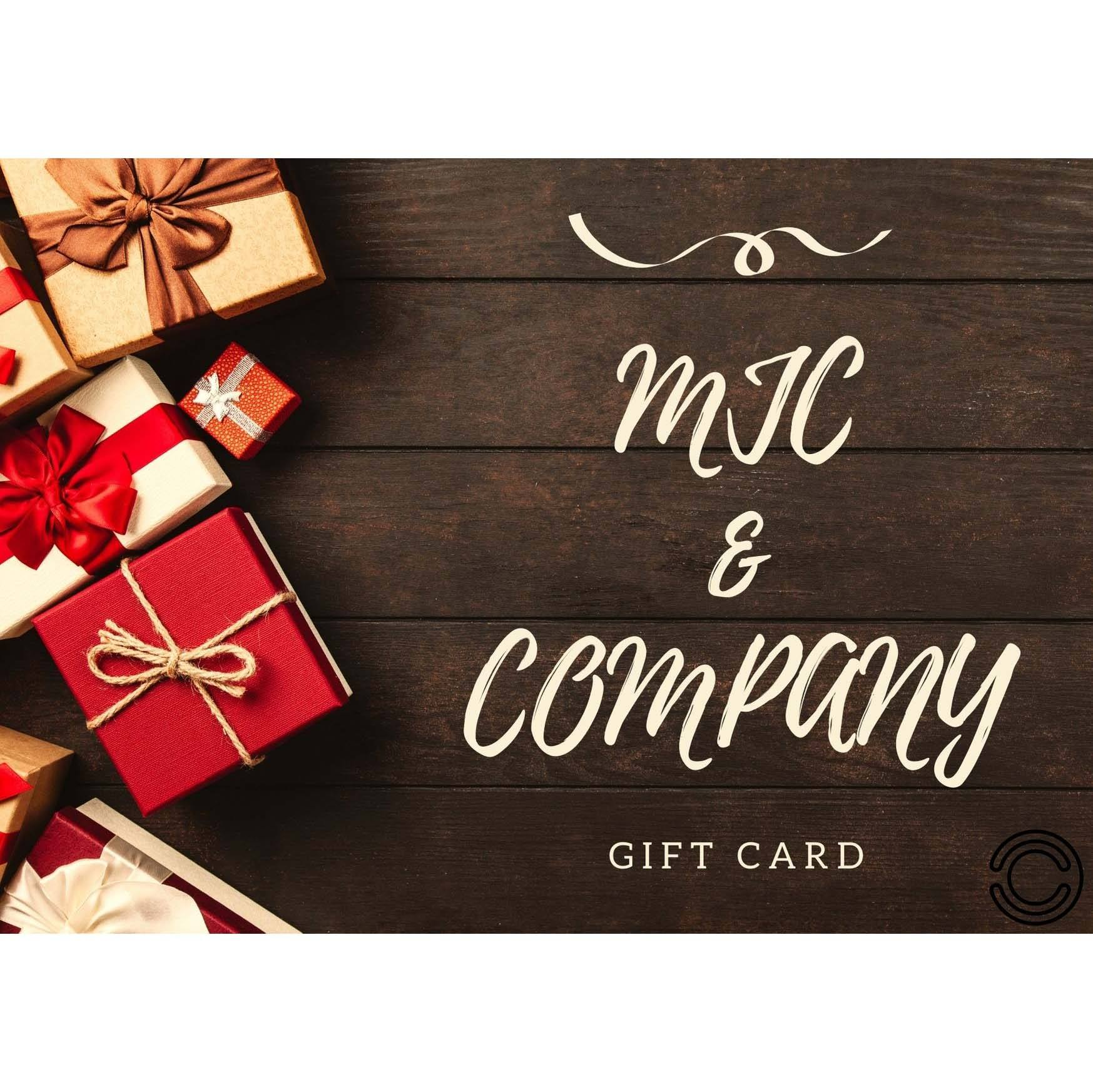 MJC & Company Gift Card