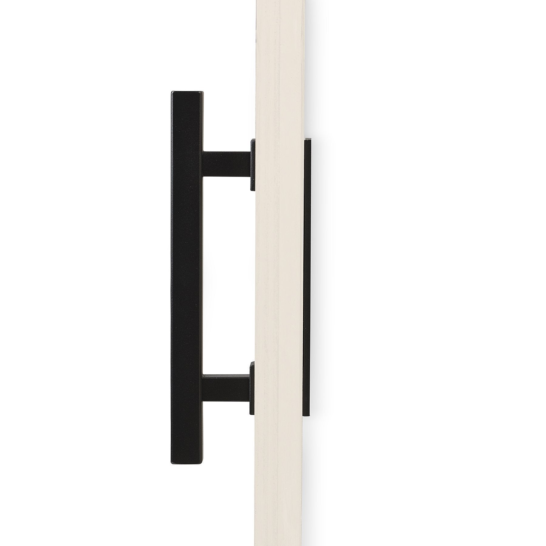"12"" Square Barn Door Pull with Flush Plate & Latch 