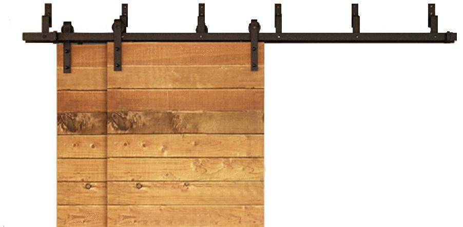 Classic | Bypass Barn Door Hardware | Matte Black - MJC & Company