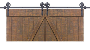 Vintage | Double Barn Door Hardware | Matte Black - MJC & Company