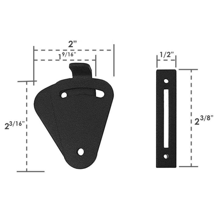small sliding teardrop privacy latch lock for barn doors pocket doors | MJC & CO