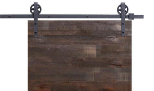 Vintage | Single Barn Door Hardware | Matte Black - MJC & Company