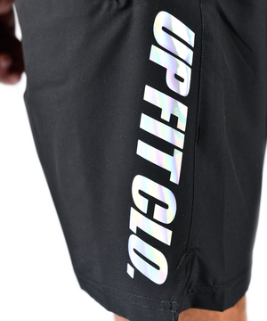 UPFITCLO SHORTS BLACK HOLO