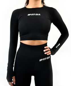 UPFITCLO SEAMLESS SET TOP BLACK