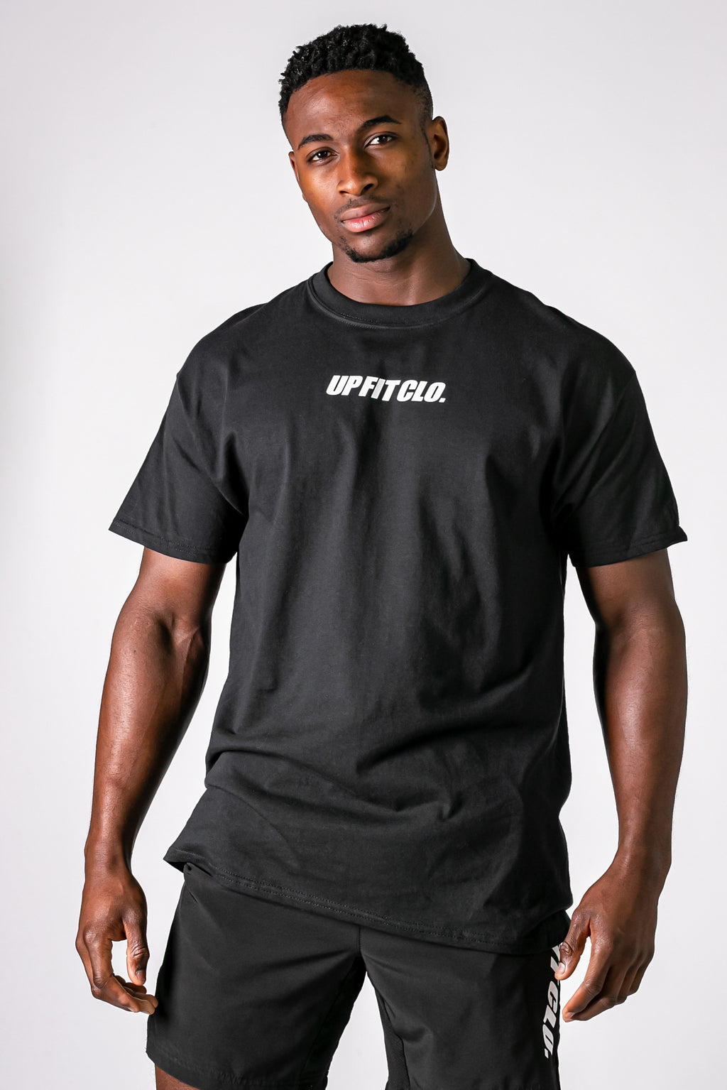 UPFITCLO BASIC COTTON SHIRT BLACK