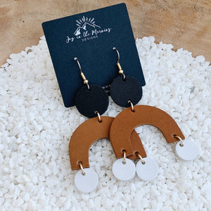 Arch Leather Earrings
