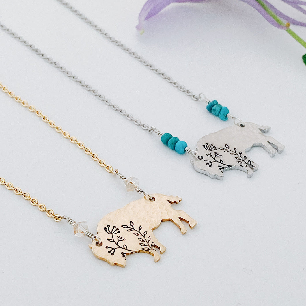 Rise Up Bison Necklace