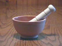 Terra Cotta Mortar & Pestle
