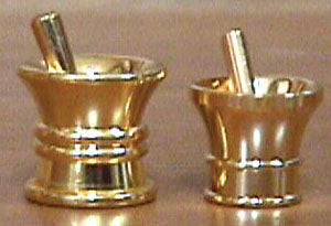 Mini Brass Mortar & Pestles