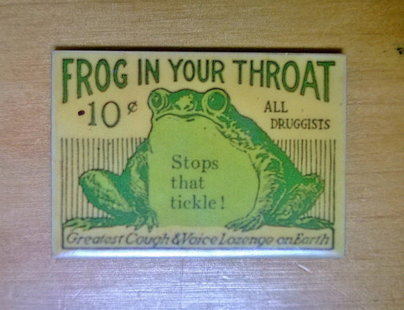 Frog in your throat