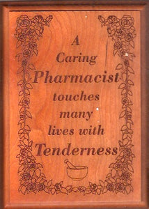 Oak Pharmacist Plaque