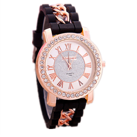 Ladies Quartz Watch with Rope Chain