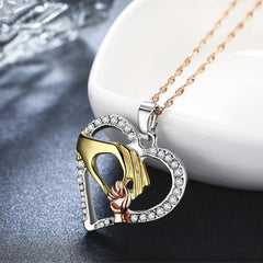 Mother-Child Pendant with Cubic Zirconia Stones