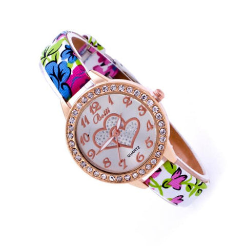 Ladies Wristwatch with Crystal Rhinestones