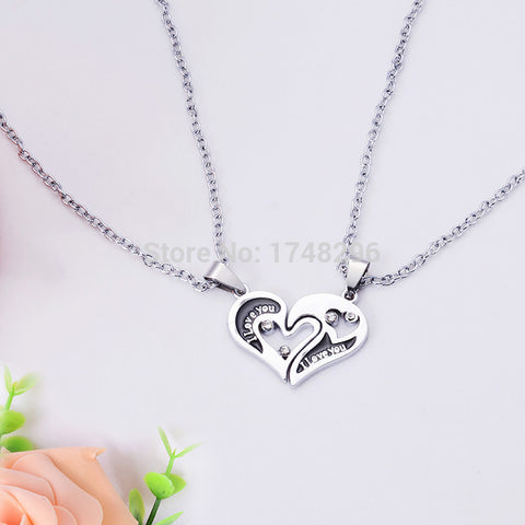 Split Heart Couples Necklace - Men and Women