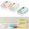 Image of Three Compartment Transparent Lunch Box or Food Snack Container