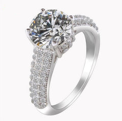 Ring, Plated Ring, Engagement Ring, Wedding Ring, Cubic Zirconia Ring