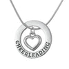 Image of Cheerleading Pendant with Heart Center