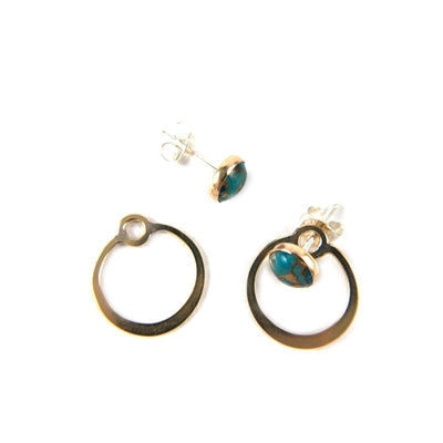 Circle Turquoise Earrings