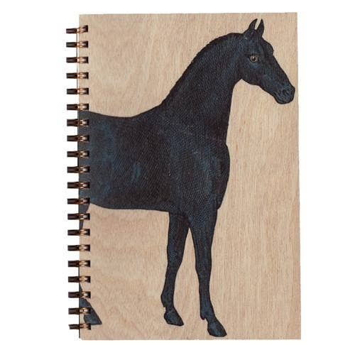 Horse- Wood Notebook