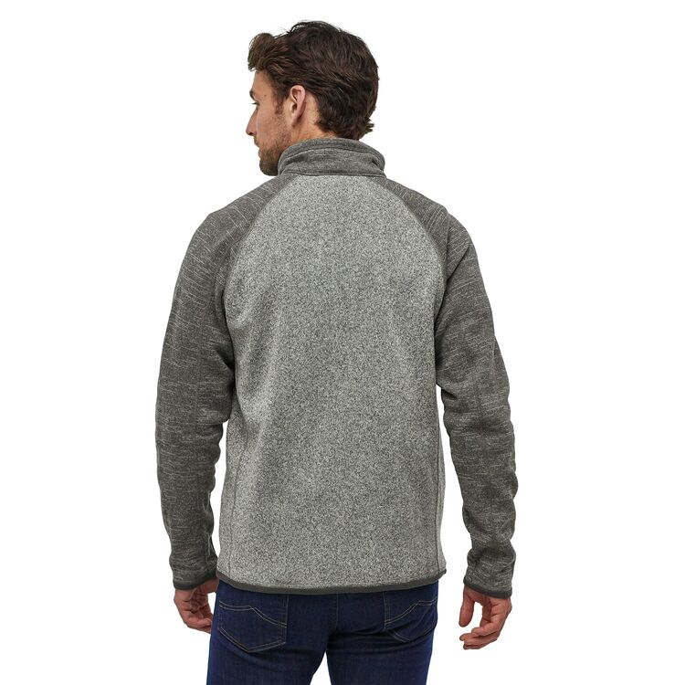 Patagonia Men's Better Sweater® 1/4-Zip Fleece in Nickel w/ Forge Grey