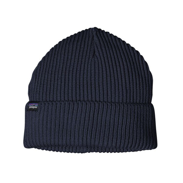Fishermans Rolled Beanie in Navy Blue