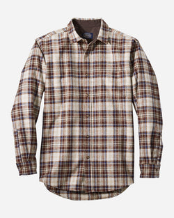 Pendleton Lodge Shirt in Brown/Copper Plaid