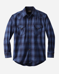Men's Snap-Front Western Canyon/ Blue Ombre Shirt