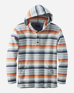 Pendleton Serape Stripe Hoodie Popover in Blue Copper