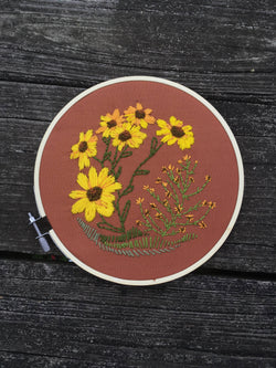 Lost Sunflower Embroidery Kit