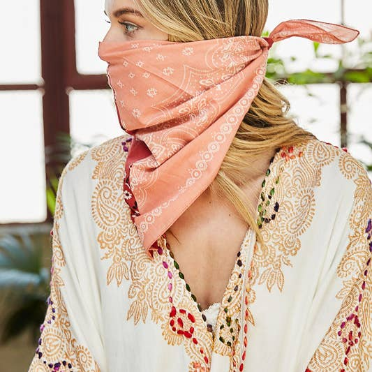 Two-tone Western Floral Bandana