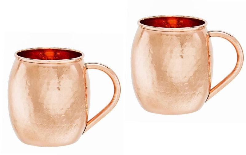 Solid Copper Hammered Moscow Mule Mugs