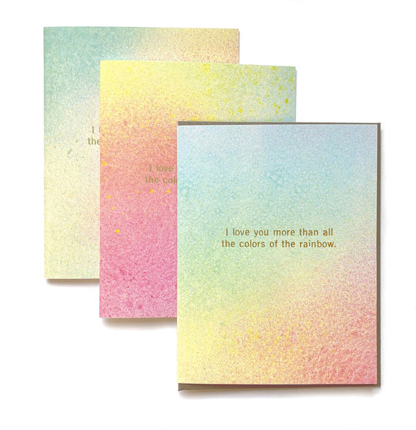 I love you more Rainbow Card