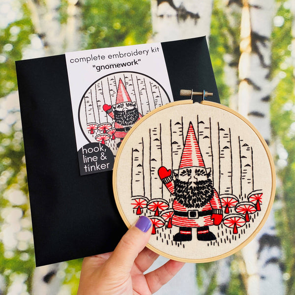 Gnomework Embroidery Kit