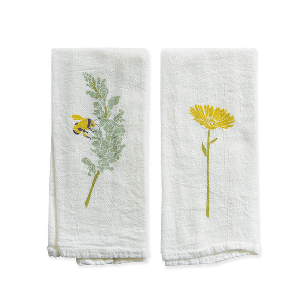 Snapdragon + Calendula Reversible Napkin / Single