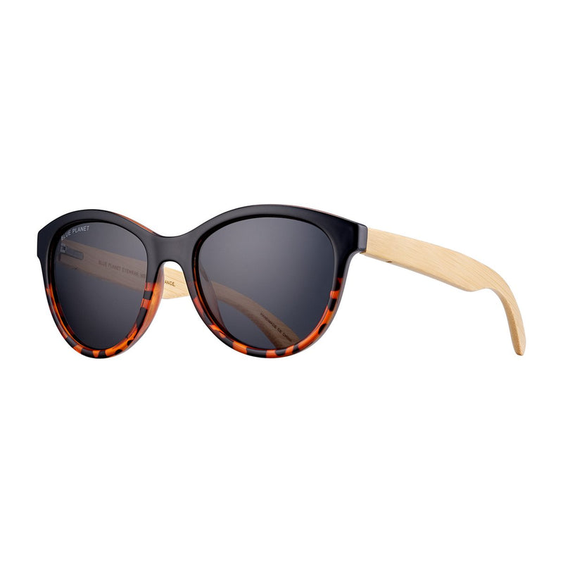 August Black Amber Polarized Sunglasses