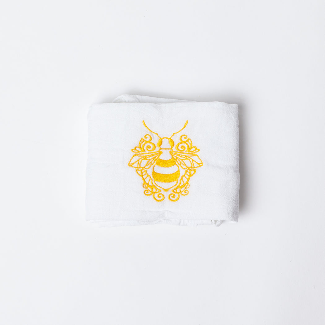 Save the Bees Embroidered Dish Towels