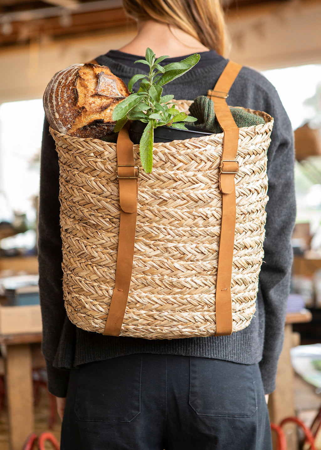 Soukie Seagrass Backpack
