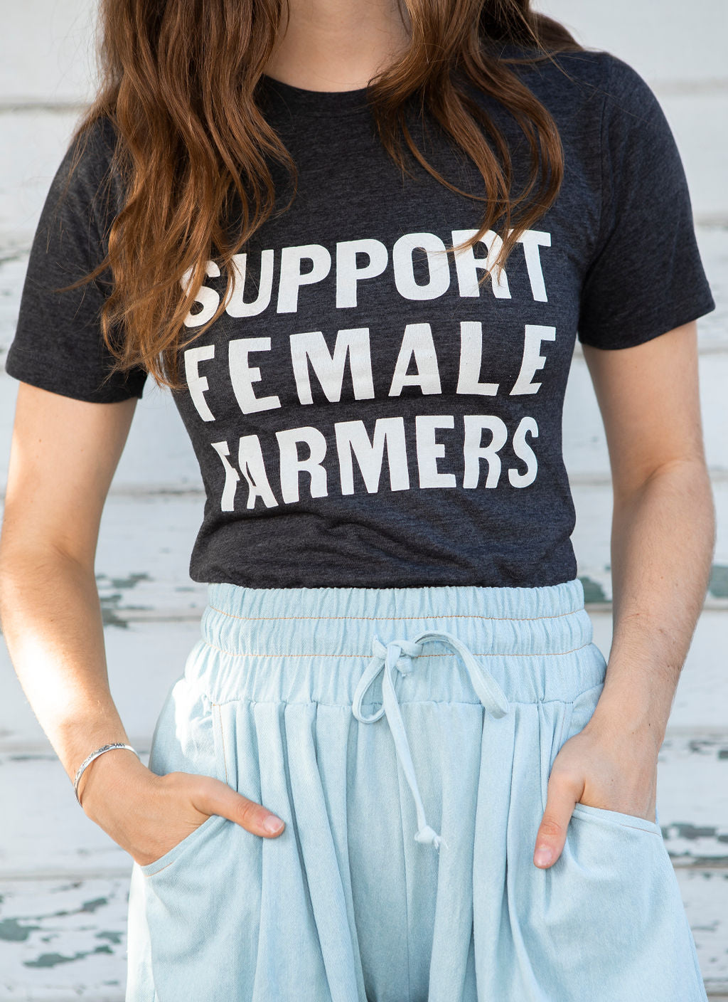 Support Female Farmers Adult Tee